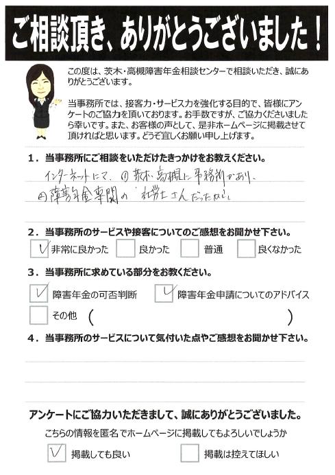 相談者アンケート